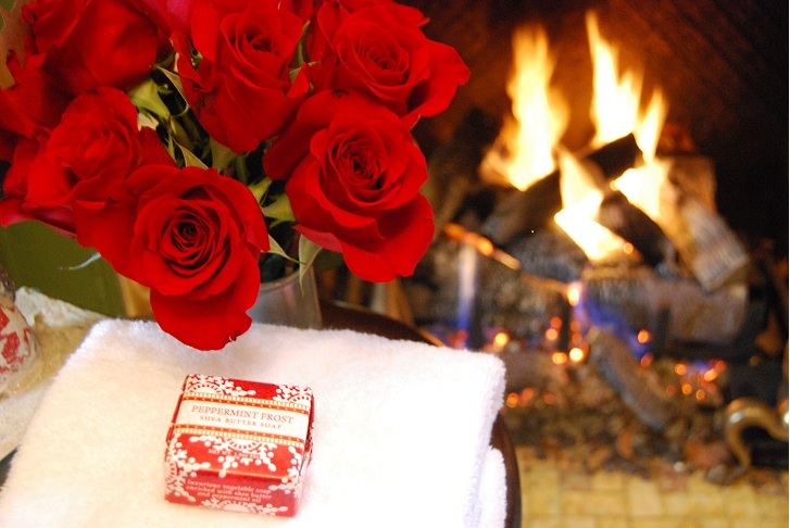 red roses and fire